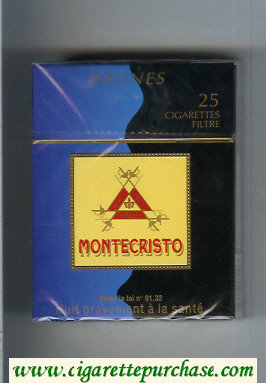 Montecristo Brunes 25 cigarettes hard box