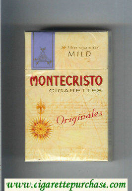 Montecristo Originales Mild cigarettes hard box