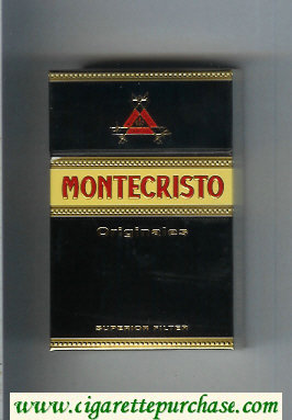Montecristo Originales Superior Filter black and yellow cigarettes hard box
