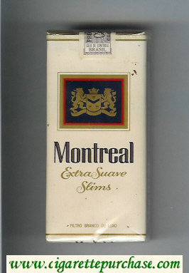 Montreal Extra Suave Slims 100s cigarettes soft box
