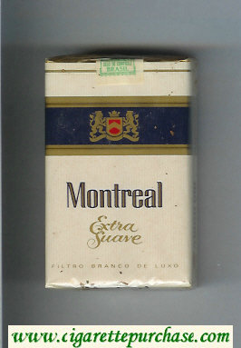 Montreal Extra Suave cigarettes soft box
