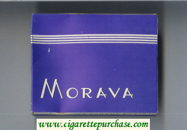 Morava blue cigarettes wide flat hard box