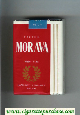 Morava Filter red and white cigarettes soft box