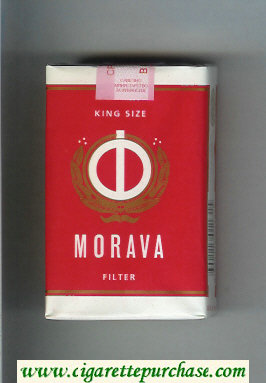 Morava Filter white and red and white cigarettes soft box
