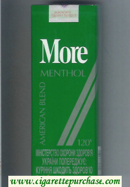 More Menthol American Blend 120s cigarettes soft box