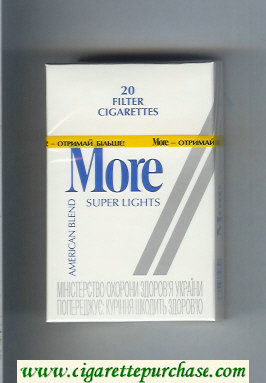 Discount More Super Lights American Blend cigarettes hard box
