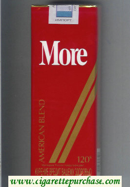 More American Blend 120s cigarettes soft box