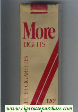 Discount More Lights Filter gold and red 120s cigarettes soft box