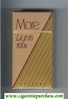 Discount More Lights Filters brown and gold 100s cigarettes hard box