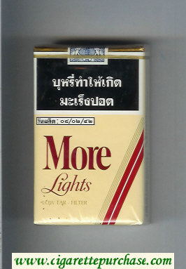 Discount More Lights yellow and red cigarettes soft box