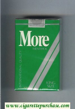 More Menthol cigarettes soft box