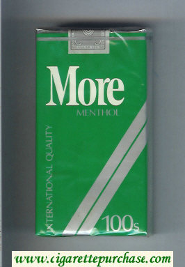 More Menthol 100s cigarettes soft box