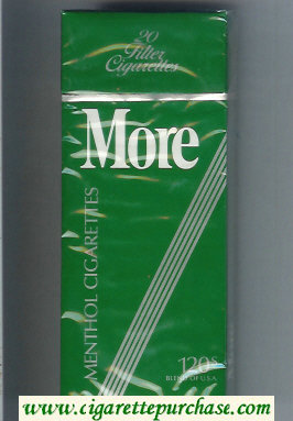 More Menthol 120s cigarettes hard box