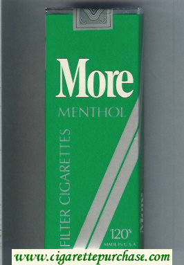 Discount More Menthol 120s cigarettes soft box