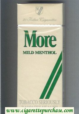 More Mild Menthol 120s cigarettes hard box