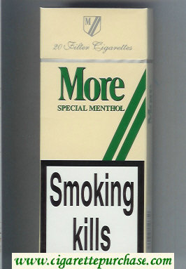 Discount More Special Menthol 120s cigarettes hard box