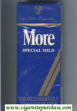 Discount More Special Mild blue and gold 120s cigarettes hard box