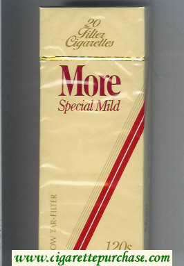 More Special Mild yellow and red 120s cigarettes hard box