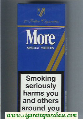 More Special Whites blue 120s cigarettes hard box