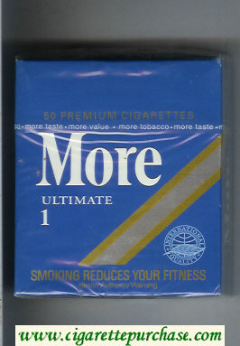 Discount More Ultimate 1 50 cigarettes hard box