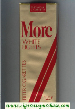 Discount More White Lights Filter gold and red 120s cigarettes soft box