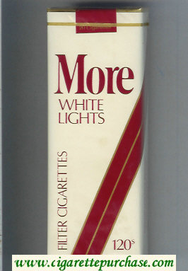 Discount More White Lights Filter white and red 120s cigarettes soft box