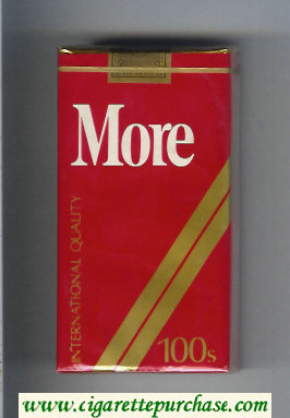 Discount More 100s cigarettes soft box