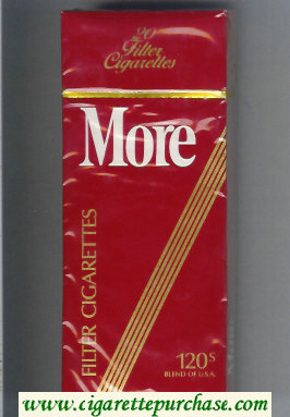 Discount More 120s cigarettes hard box