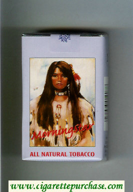 Discount Morning Star All Natural Tobacco Lights cigarettes soft box