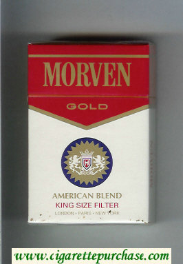 Morven Gold American Blend cigarettes hard box