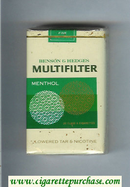 Multifilter Benson and Hedges Menthol cigarettes soft box