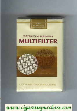 Multifilter Benson and Hedges cigarettes soft box