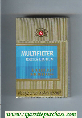 Multifilter Philip Morris Extra Lights cigarettes hard box