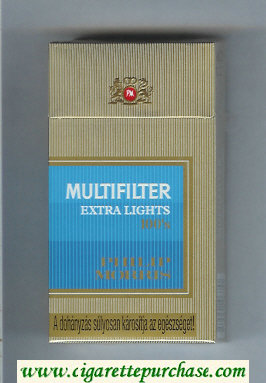 Multifilter Philip Morris Extra Lights 100s cigarettes hard box