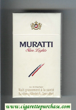 Discount Muratti Slim Lights 100s cigarettes hard box