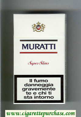 Discount Muratti Super Slims 100s cigarettes hard box