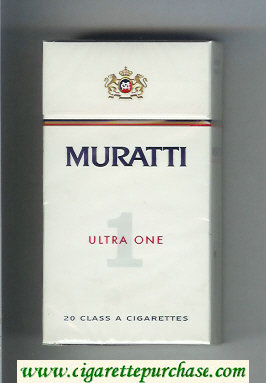 Muratti 1 Ultra One 100s cigarettes hard box
