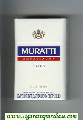 Muratti Ambassador Lights Multifilter cigarettes hard box