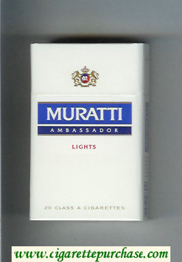 Muratti Ambassador Lights cigarettes hard box