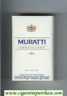 Muratti Ambassador One 1 Multifilter cigarettes hard box