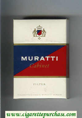 Discount Muratti Cabinet cigarettes hard box