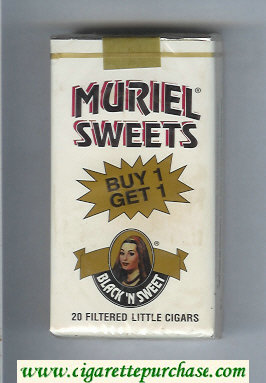 Muriel Sweets Little Cigars Black'n Sweet 100s cigarettes soft box