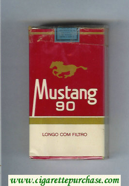 Mustang 90 cigarettes soft box