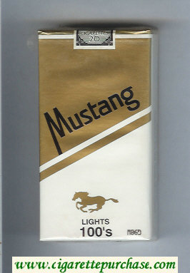 Mustang Lights 100s cigarettes soft box