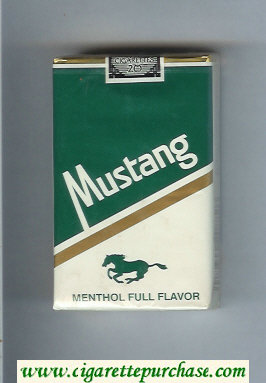 Mustang Menthol Full Flavor cigarettes soft box
