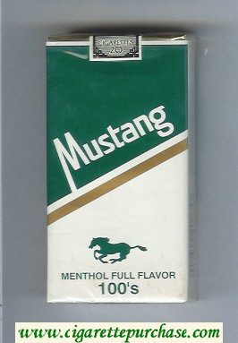 Mustang Menthol Full Flavor 100s cigarettes soft box