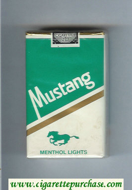 Mustang Menthol Lights cigarettes soft box