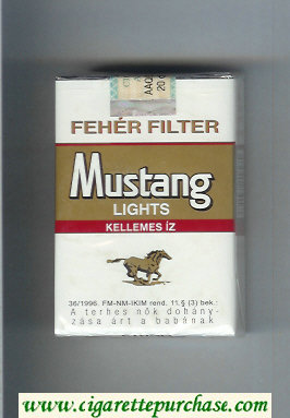 Mustang Feher Filter Lights Kellenez Iz cigarettes soft box