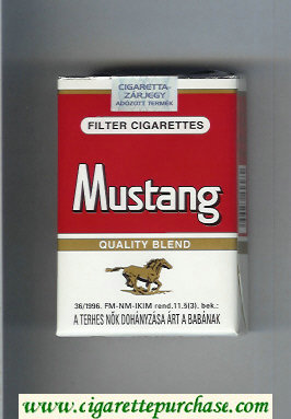 Discount Mustang Quality Blend cigarettes soft box