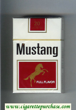 Discount Mustang Full Flavor cigarettes hard box